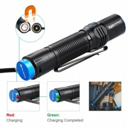 LINTERNA OLIGHT M2R WARRIOR 1500 LUM RECARGABLE, USB BLANCO NEUTRO