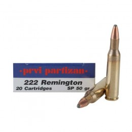Caja Munición Rifle calibre  222 Remington PRVI SP 50 GRS