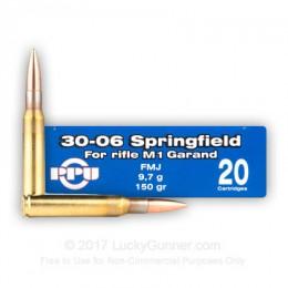 Caja munición Cal.30-06 /150 FMJ PPU-PRVI ( 20 unidades )