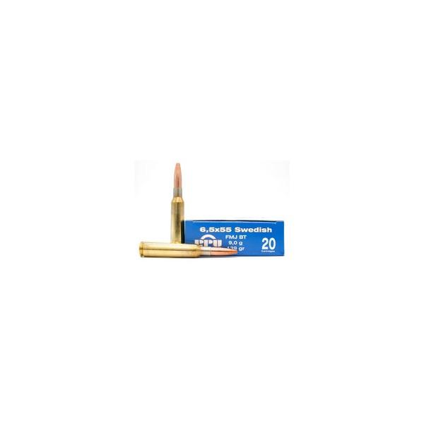 Caja munición Cal.6,5X55 -139 FMJBT PRVI ( 20 unidades )