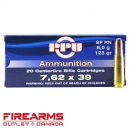 Caja munición Cal.7,62x39 R /123 SP PRVI ( 20 unidades)