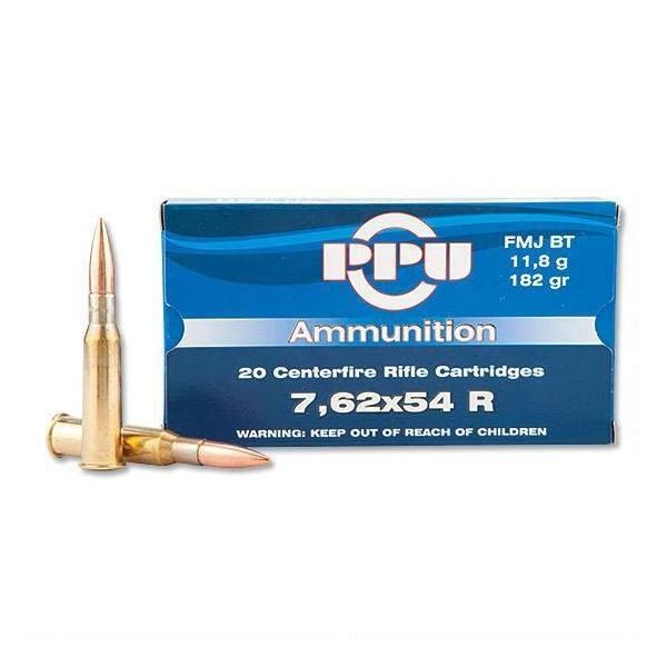 Caja munición Cal.7,62X54 R /182 FMJBT PRVI ( 20 unidades )