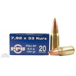 Caja munición Cal.7,92x33 /124 FMJBT PRVI ( 20 unidades )