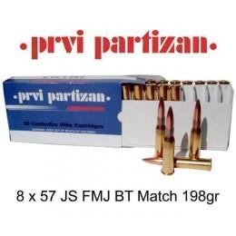 Caja munición Cal.8x57 JS -198 FMJBT PRVI ( 20 unidades )