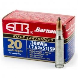 Caja munición BARNAUL Cal. 308 WIN. SP 168gr ( 20 unidades )